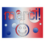 French Gifts : Thank You / Merci + Smiley Face Print