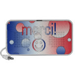 French Gifts : Thank You / Merci + Smiley Face PC Speakers