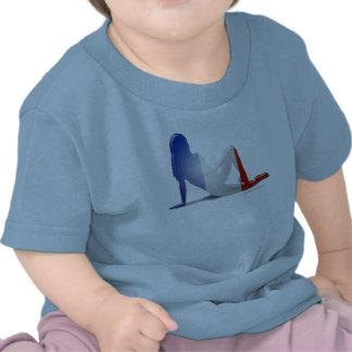 French Girl Silhouette Flag Tshirts