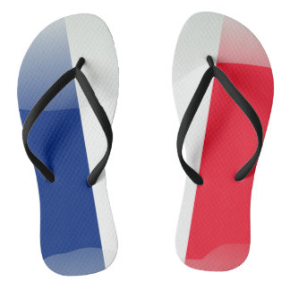 French glossy flag flip flops