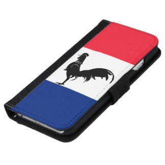 French glossy flag iPhone 6 wallet case