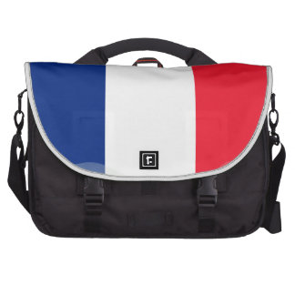 French glossy flag laptop shoulder bag