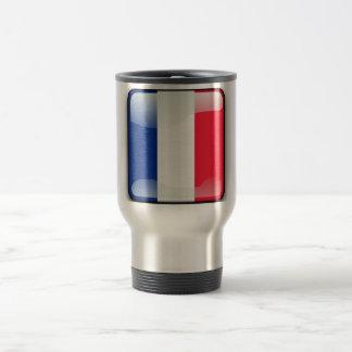 French glossy flag travel mug
