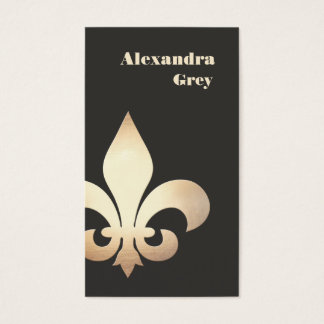 French Gold Leaf Fleur de Lis Business Card