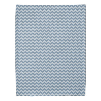 French Gray Moroccan Moods Chevrons Duvet Cover