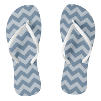 French Gray Moroccan Moods Chevrons Flip Flops