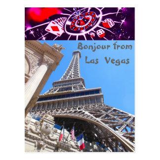 French Greetings Las Vegas Style Postcard