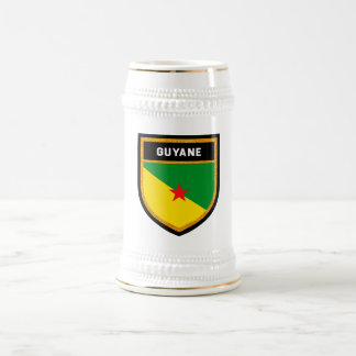 French Guiana Flag Beer Stein