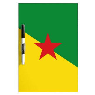 French Guiana Flag Dry Erase Board