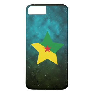 French Guiana Star Design Flag iPhone 7 Plus Case