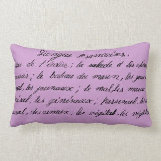French Handwriting Collection - Lumbar Pillow