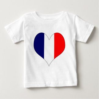 French Heart Baby T-Shirt