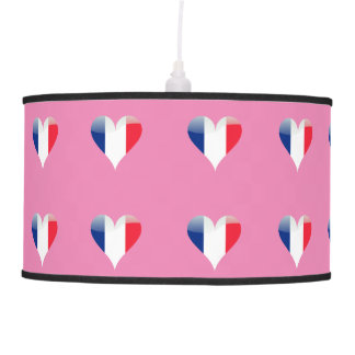 French heart pendant lamp