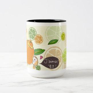 French Hedeghog's Orange Day Two-Tone Coffee Mug
