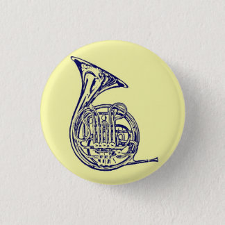 French Horn 1 Inch Round Button