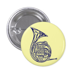 French Horn 1 Inch Round Button