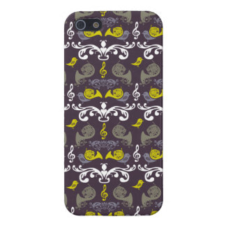 French Horn and Birdie iPhone 5 Case
