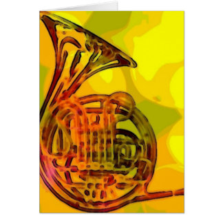 French Horn Card