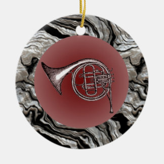 French Horn Drawing Pendant Ornament