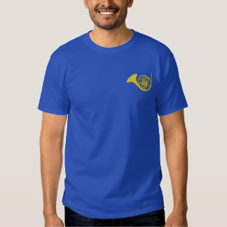 French Horn Embroidered T-Shirt