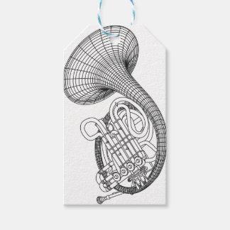 French horn gift tags