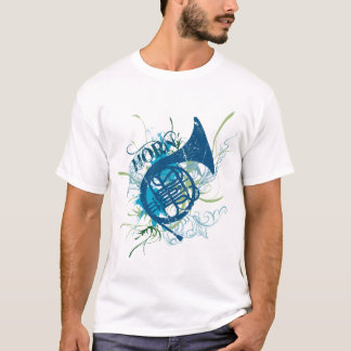 French Horn Grunge t-shirt