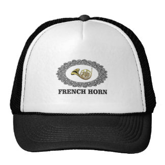 french horn in ring trucker hat