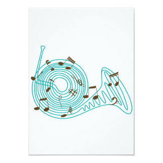 French Horn Invitations