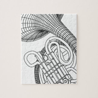 French horn jigsaw puzzle