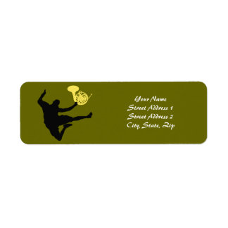 French horn label