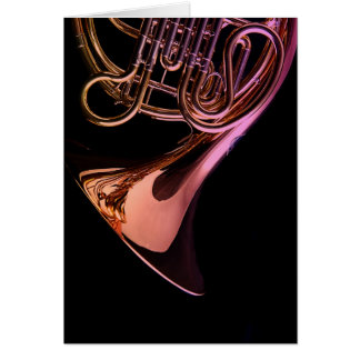 French Horn Musical Instrument Image Card