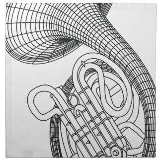 French horn napkin