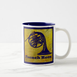 French Horn on Gold Two-Tone Coffee Mug