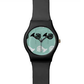 French Horn Pattern Watch