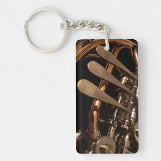 French Horn Photo Keychain