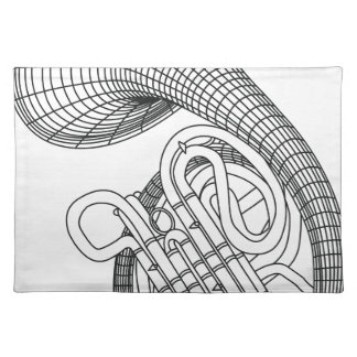 French horn placemat
