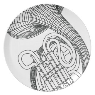 French horn plate