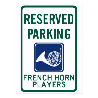 French Horn Players Parking Postcard