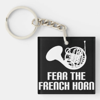 French Horn Quote Stocking Stuffer Gift Keychain