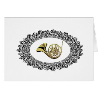 french horn ring card