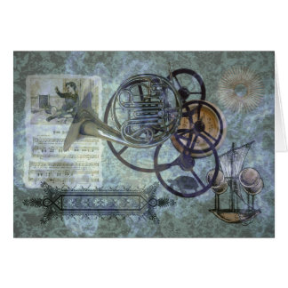 French Horn Steampunk Medley Card