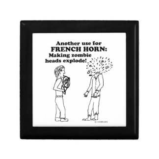 French Horn Zombie Explode Keepsake Boxes