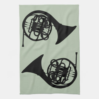 French Horns Kitchen Towel