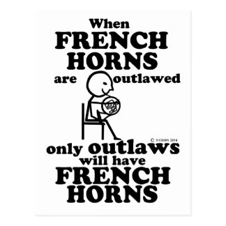 French Horns Outlawed Postcard