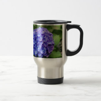 French hydrangea (Hydrangea macrophylla) Travel Mug