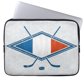French Ice Hockey Flag Logo Laptop Sleeve