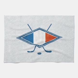 French Ice Hockey Flag Logo Tea Towels