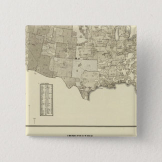 French Immigration 2 Inch Square Button