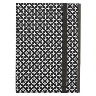 French Inspired Black and White Fleur De Lis iPad Air Case