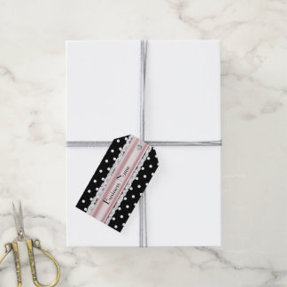 French Inspired Polka Dot Custom Business Tags Pack Of Gift Tags